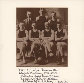 Photograph of YMCA Halifax Business Men's Volleyball Team