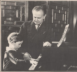 Josef Hofmann with Anton H. at piano