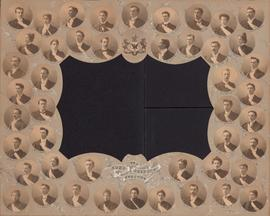 Photographic collage of the Dalhousie University Arts, Science, and Letters class of 1899
