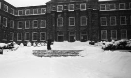 Photograph of the Arts & Administration Building in the winter