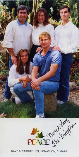 Photograph of Dave Kreiger and family
