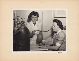 Photograph of Outpatient and Public Health Clinic, aerosol penicillin treatment