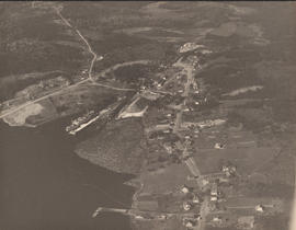Aerial photograph of Sheet Harbor, Nova Scotia