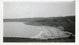 Photograph looking west from Kennington Cove's nid-de-pie position