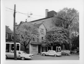 Photograph of the exterior of the Island Telephone Company central office, taken from the left