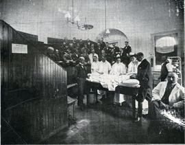 Photograph of an operating theatre at the Victoria General Hospital