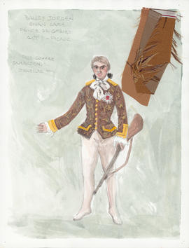 Costume design for Prince Seigfried : Act 1