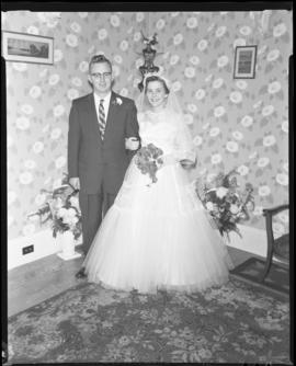Photograph of Mr. & Mrs. Grice on their wedding day