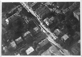 Aerial photograph of Arthur Stanley MacKenzie's funeral procession