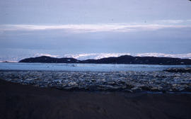 Photograph of Frobisher Bay and mountains