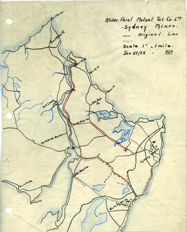 Maps of Alder Point Mutual Telephone Company's telephone line