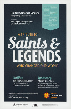 A tribute to saints and legends who changed our world : [poster]
