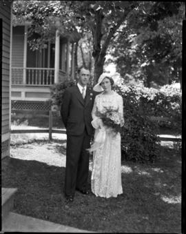 Photograph of Dr. and Mrs. Victor Calkin on their wedding day
