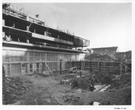 Photograph of the north west view of the Killam Memorial Library construction