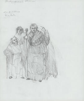 Costume design for three witches