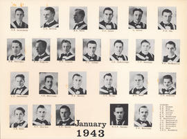 Composite Photograph of the Faculty of Medicine - Class of 1943 (January)