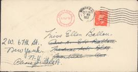 Letter from Frank Cyril James to Ellen Ballon