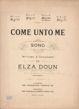 Come unto me : [sheet music]