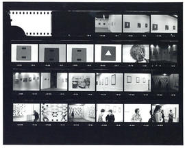 Contact sheet of images taken during Garry Conway's exhibition, Igellporphigell