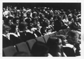 Photograph of the audience at a Dalhousie University convocation ceremony