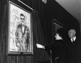 Photograph of Vincent C. MacDonald portait unveiling