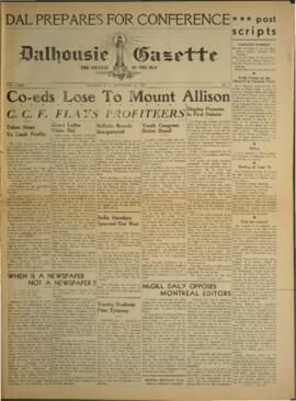 Dalhousie Gazette, Volume 72, Issue 8