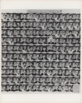 Photograph of Faculty of Law second year class of 1970-71
