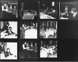 Proof sheet of photographs of a candlelight and wine dinner at Howe Hall
