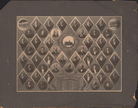 Composite photograph of Faculty and Senior Class in Arts and Science, 1904