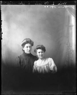 Photograph of Miss L. Bain & friend