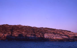 Photograph of the rocky shore of Battle Harbour, Newfoundland and Labrador