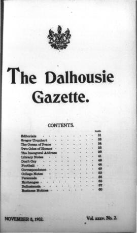 The Dalhousie Gazette, Volume 35, Issue 2