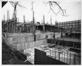 Photograph of the Sir Charles Tupper Medical Building construction