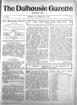 The Dalhousie Gazette, Volume 53, Issue 7