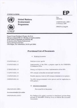 United Nations Environment Programme (UNEP) - Global Programme of Action (GPA) for the Protection...