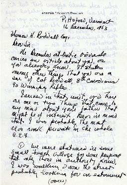 Correspondence between Thomas Head Raddall and Arthur Leonard Dunphy