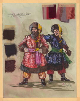 "Costume design for 2 and 4 ""Muscovites"""