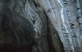 Photograph of a rock formation in Cape Dorset, Northwest Territories