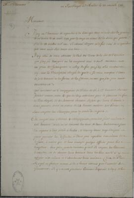 The Delabat documents : Letter to Monsieur de Villermont concerning Acadie, dated at Port Royal, ...