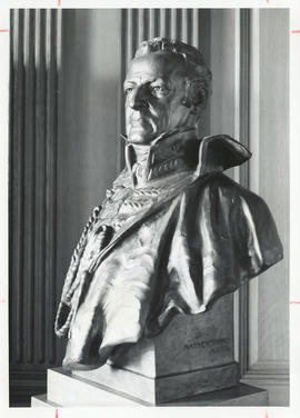 Photograph of a bust of Lord Dalhousie