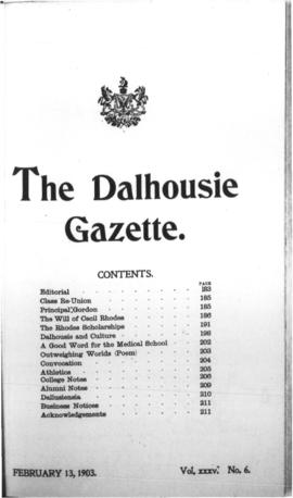 The Dalhousie Gazette, Volume 35, Issue 6