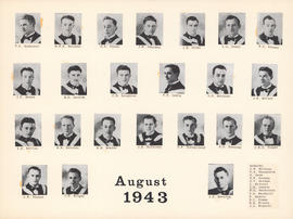 Composite Photograph of the Faculty of Medicine - Class of 1943 (August)