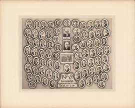 Composite photograph of Faculty of Law Graduating Class of 1952