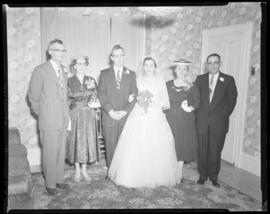 Photograph of Mr. & Mrs. Grice and family at their wedding