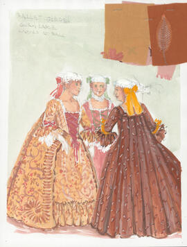 Costume design for Ladies at the Ball