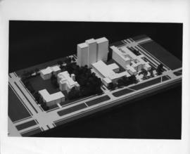 Photograph of a model of the Sir Charles Tupper Medical Building