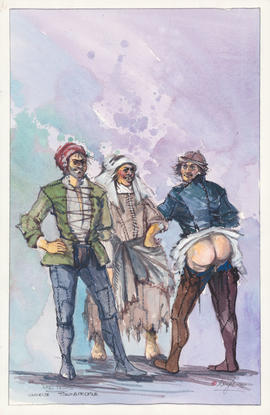 Costume design for various townspeople