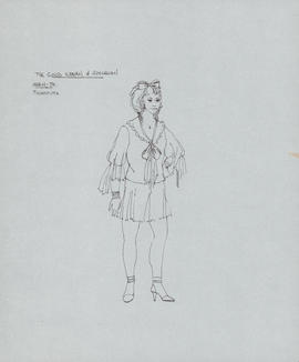 Costume design for Shen-te as prostitute