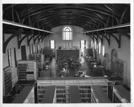 Photograph of the library in the Law Building