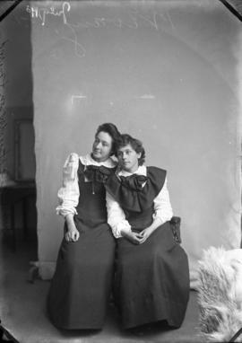 Photograph of Miss. A. G. Henderson and unknown individual